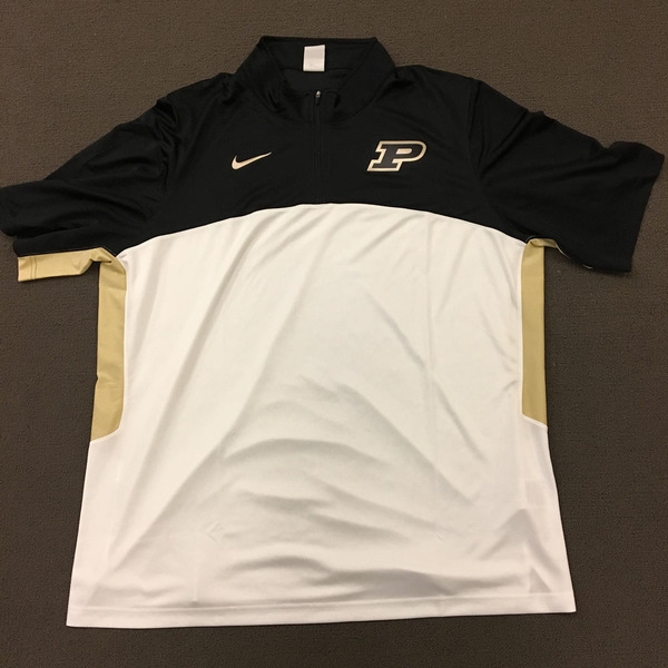 Photo of Purdue Men's Basketball Nike 1/4 Zip Warm-Up Size 3XL