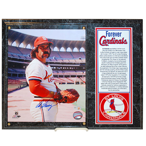 Photo of Cardinals Authentics: St. Louis Cardinals Al Hrabosky Autographed Photo Plaque - Forever Cardinals Collection