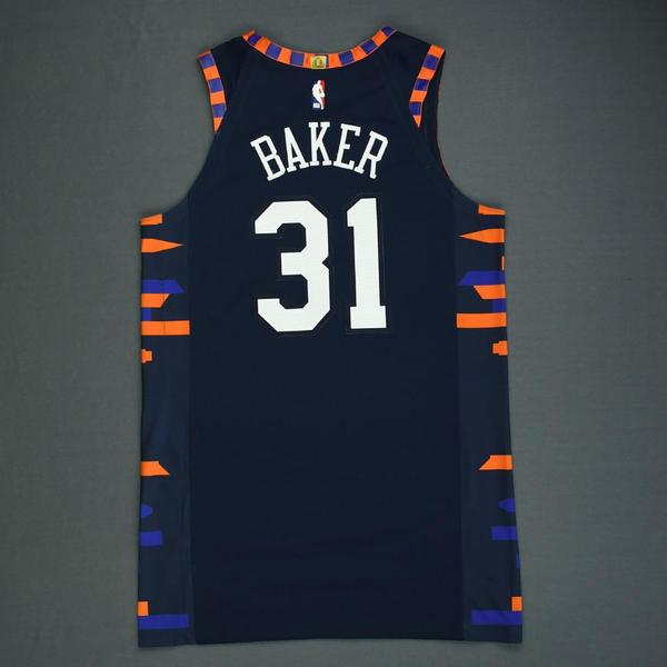 Ron Baker - New York Knicks - Game-Worn City Edition Jersey - 1 of ...