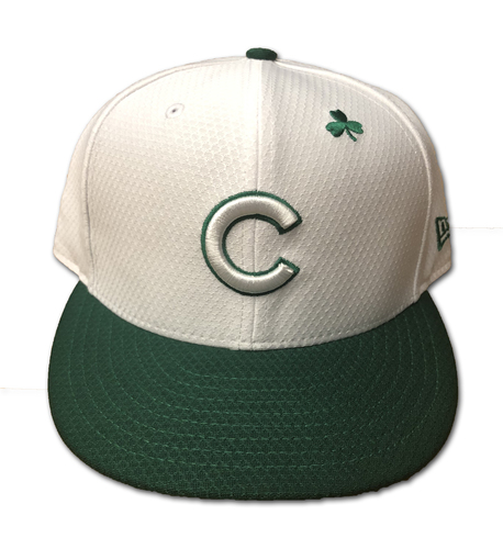 Photo of Javier Baez Team-Issued Hat -- Size 7 1/4 -- St. Patrick's Day 2019