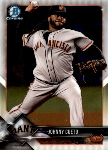 Photo of 2018 Bowman Chrome #43 Johnny Cueto
