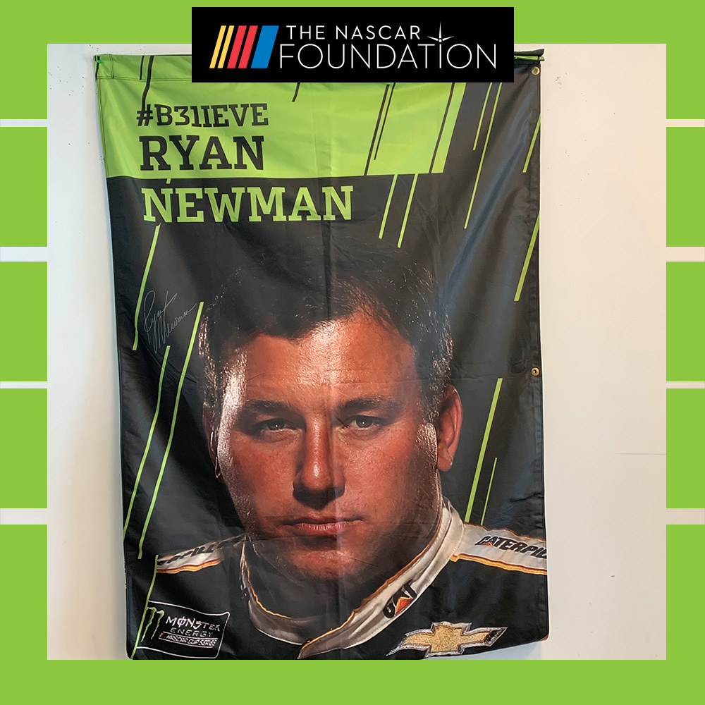 NASCAR's Ryan Newman Autographed Banner!