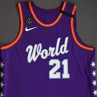 Moritz Wagner - 2020 NBA Rising Stars - Team World - Game-Worn 1st Half Jersey