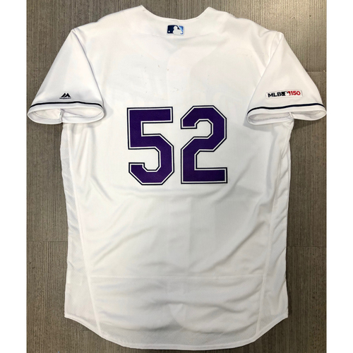 Photo of Team Issued Devil Rays Jersey: #52 (Number Only)