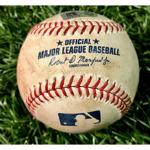 Game Used Baseball: Austin Meadows single off Josh Taylor - September 21, 2019 v BOS