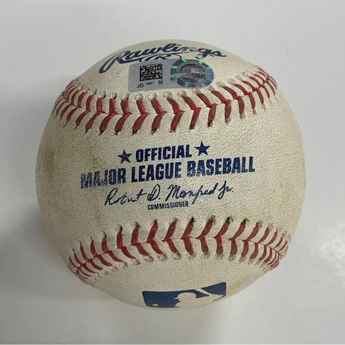 Photo of Game Used Baseball - 8/21/20 - Batter: Jorge Bonifacio, Pitcher: Adam Cimber - Strikeout