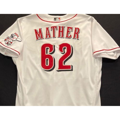 Photo of Joe Mather -- 2020 Home White Jersey -- Team Issued -- Size 48