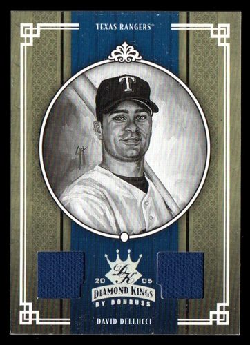 Photo of 2005 Diamond Kings Materials Silver B/W #236 David Dellucci Jsy-Jsy/100