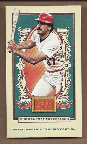 Photo of 2013 Panini Golden Age Mini American Caramel Blue Back #132 Keith Hernandez