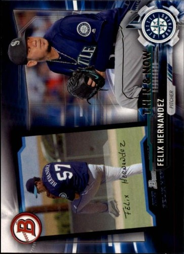 Photo of 2017 Topps Bowman Then and Now #BOWMAN8 Felix Hernandez