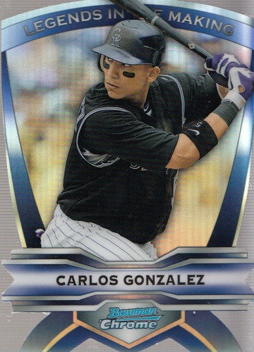 Photo of 2012 Bowman Chrome Legends In The Making Die Cuts Carlos Gonzalez