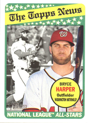 Photo of 2018 Topps Heritage #52 Bryce Harper