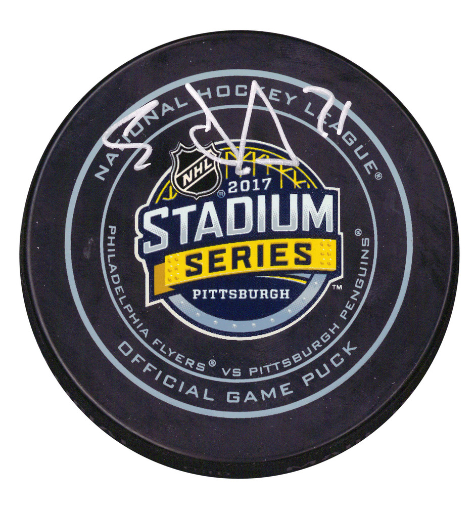 Evgeni Malkin - Signed Puck Pittsburgh Penguins 2017 Stadium Series Official Game Puck