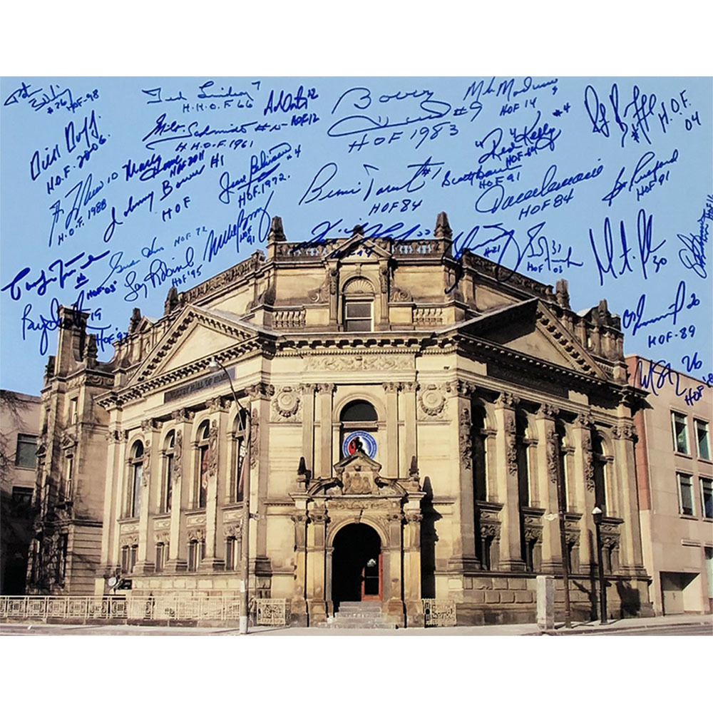 Hockey Hall of Fame Autographed 16X20 Photo - Signed by TONS of Inductees - 29 Signatures in Total