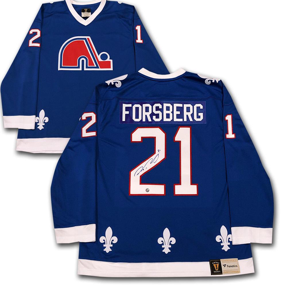 Peter Forsberg Autographed Quebec Nordiques Fanatics Heritage Jersey