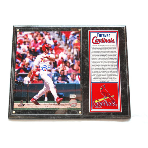 Photo of Cardinals Authentics: St. Louis Cardinals Jim Edmonds Autographed Photo Plaque - Forever Cardinals Collection