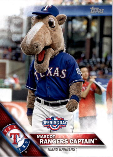 Photo of 2016 Topps Opening Day Mascots #M24 Rangers Captain