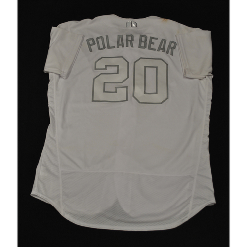 "Photo of Pete ""POLAR BEAR"" Alonso New York Mets Game-Used 2019 Players' Weekend Jersey"
