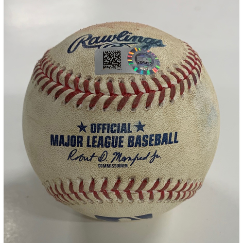 Photo of Game Used Baseball - 8/24/20 - Batter: Max Kepler, Pitcher: Oliver Perez - Foul Ball
