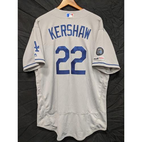 Photo of Clayton Kershaw Team-Issued 2019 Road Jersey