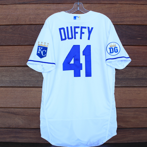 Photo of Game-Used 2020 Los Reales Jersey: Danny Duffy #41 (PIT @ KC 9/12/20) - Size 44