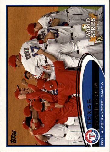 Photo of 2012 Topps #217 Texas Rangers PS HL
