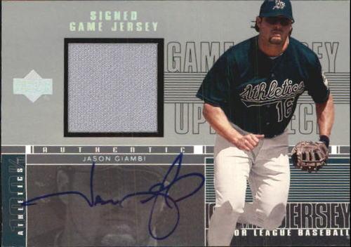 Photo of 2001 Upper Deck Game Jersey Autograph 1 #HJG Jason Giambi