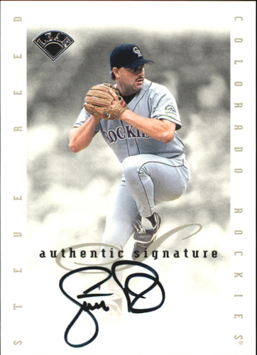 Photo of 1996 Leaf Signature Extended Autographs #168 Steve Reed