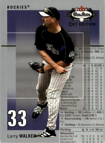 Photo of 2003 Fleer Box Score First Edition #87 Larry Walker
