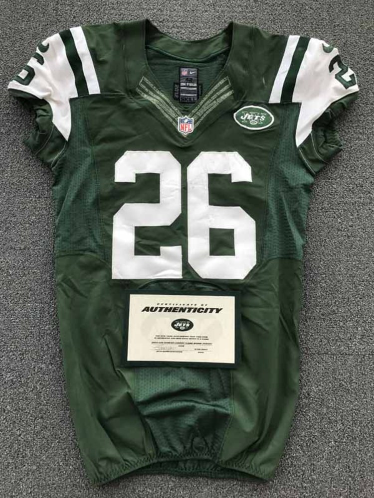 New York Jets - 2013 #26 Dawan Landry Game Worn Jersey