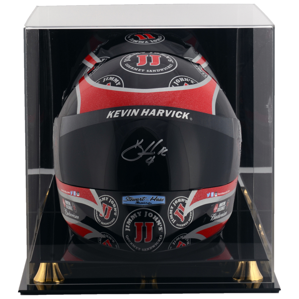 Kevin Harvick Jimmy John's NASCAR Autographed Full Size Replica Helmet With Display Case