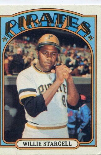 Photo of 1972 Topps #447 Willie Stargell -- Hall of Famer