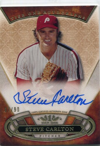 Photo of 2015 Topps Tier One Autographs Steve Carlton 97/99 -- Hall of Famer
