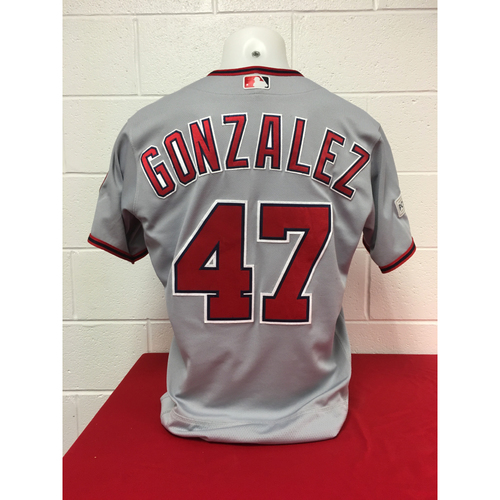 Photo of Game-Used Jersey: Gio Gonzalez 2017 NLDS (Jersey Size - 44)