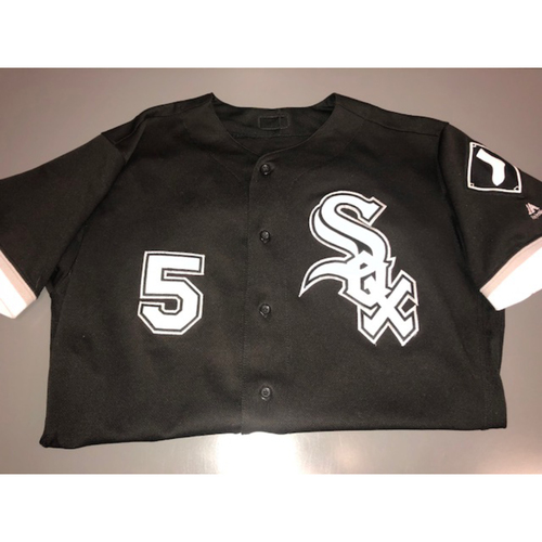 Photo of Yolmer Sanchez 2017 Game-Used Black Alternate Jersey - Size 44
