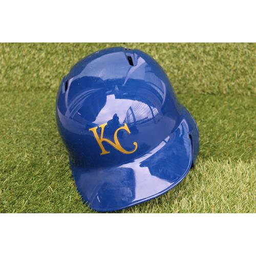 Photo of Team-Issued Batting Helmet: Adalberto Mondesi (Size 7 3/8 - CLE @ KC - 9/28/18)