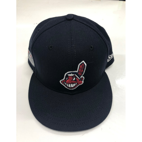 Photo of Mike Clevinger Game-Used 2018 Post Season Road Cap