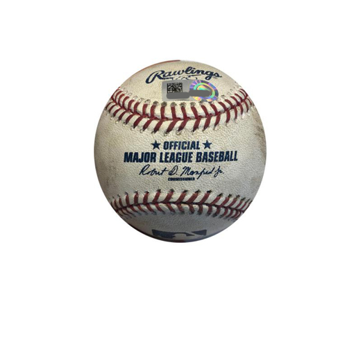 Photo of Game-used Baseball: 8/1/2017 Bailey vs. Frazier (Double), McCutchen (Ball in Dirt)