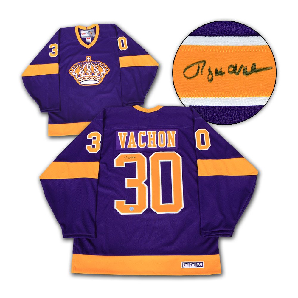 Rogie Vachon Los Angeles Kings Autographed Retro CCM Hockey Jersey