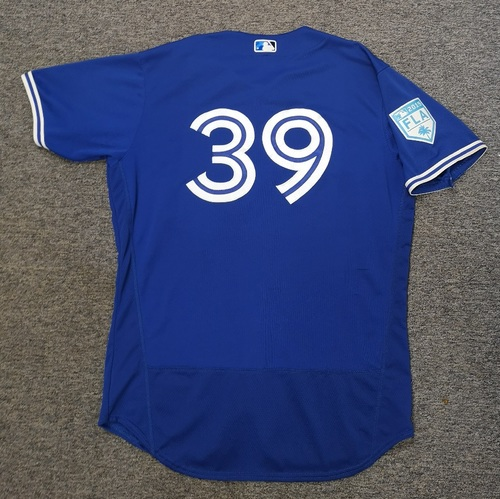 Photo of Authenticated Game Used 2019 Spring Training Jersey - #39 Dave Hudgens (Mar 18. Mar 25). Size 48