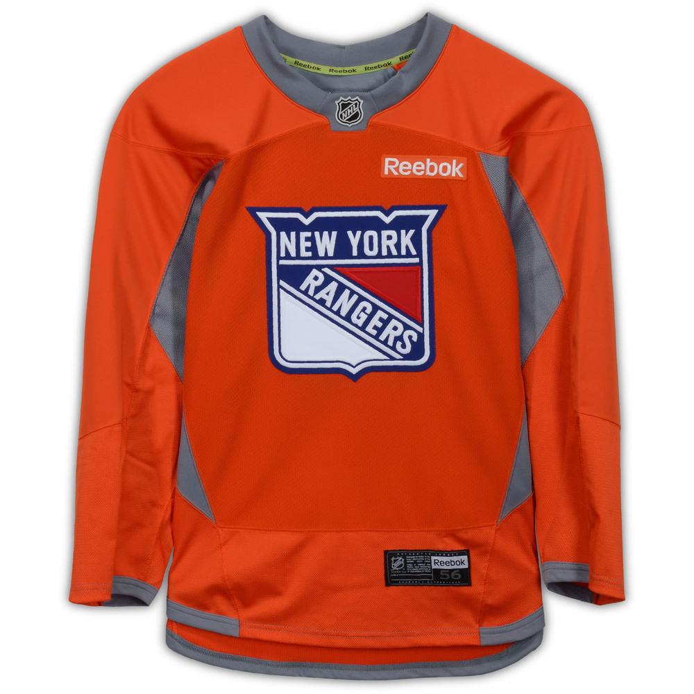 Rick Nash New York Rangers Team-Issued #61 Orange Shield Practice Jersey - Size 56