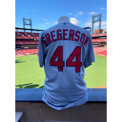 Photo of Cardinals Authentics: Luke Gregerson Game-Used Road Grey Jersey