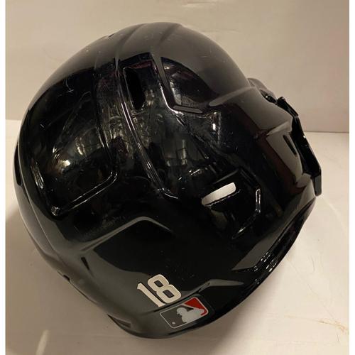 Photo of Pablo Sandoval Game-Used Postseason Road Helmet - Worn 10/12/20 NLCS