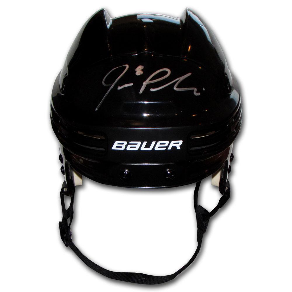 joe pavelski autographed bauer hockey helmet san jose