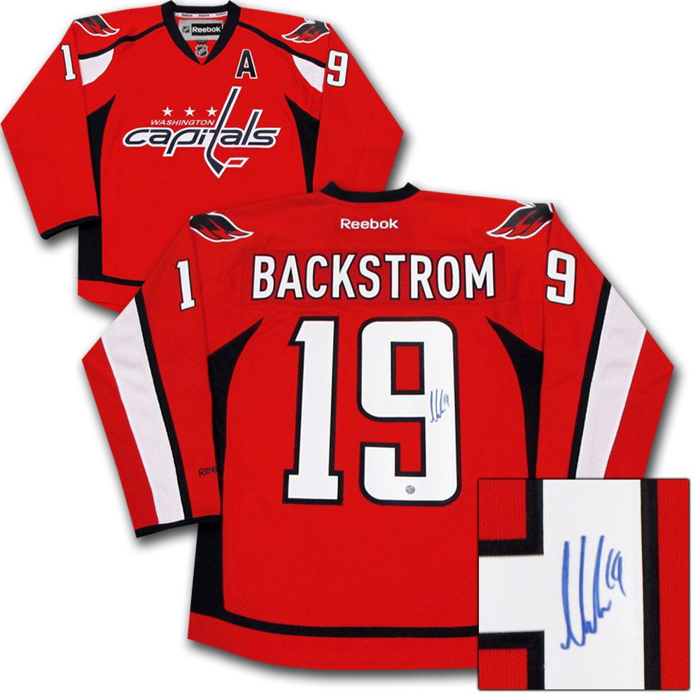 Nicklas Backstrom Autographed Washington Capitals Jersey