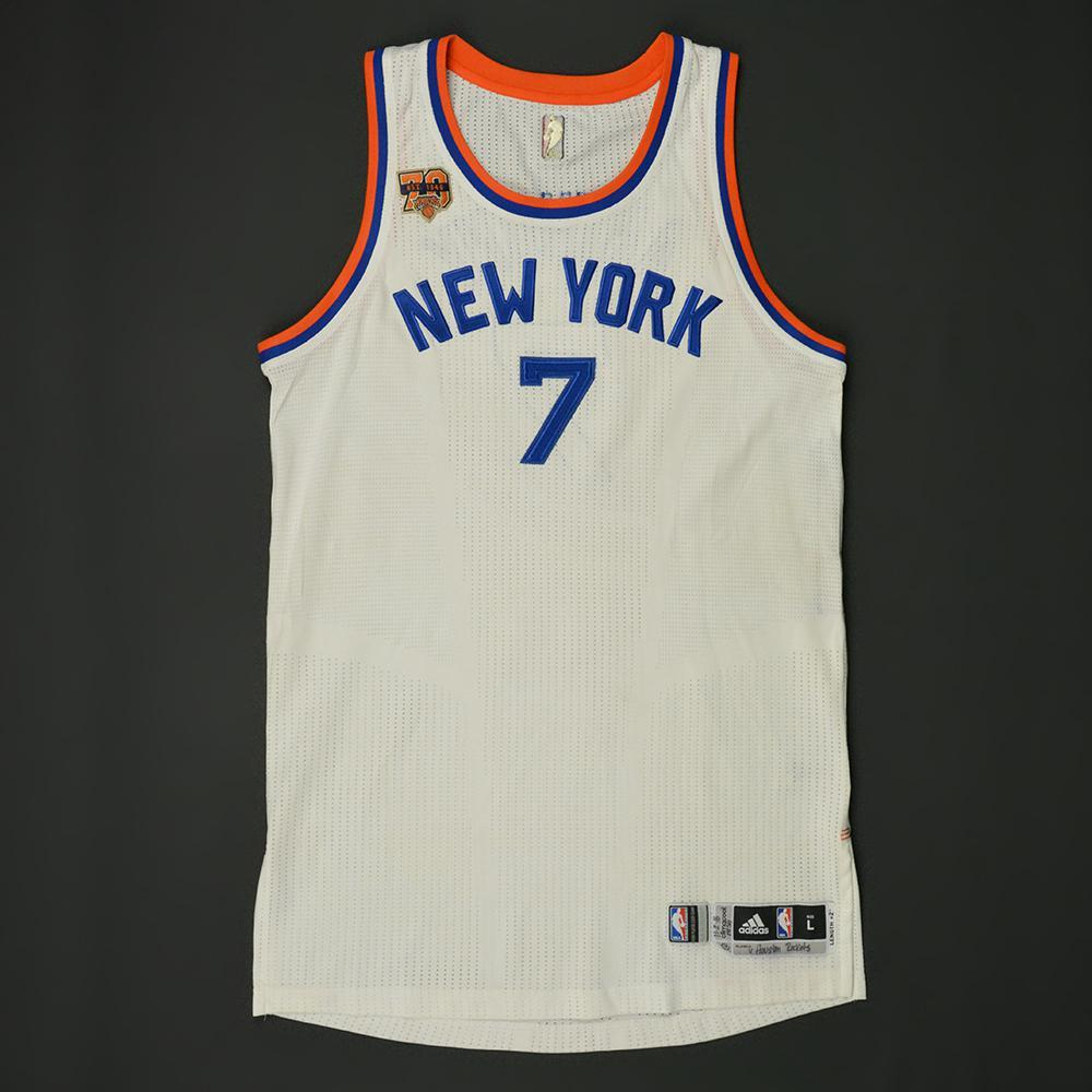 16947dd81 NBA 7 Carmelo Anthony New York Knicks new Resonate Fashion Swingman Jersey  Carmelo Anthony - New York Knicks - Game-Worn Hardwood Classics 1946-47 Home  ...