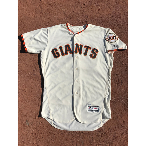 Photo of San Francisco Giants - 2017 Game-Used Jersey - #62 Cory Gearrin - Home Jersey - Worn 6/27, 9/30, & 10/1 - Jersey Size 46