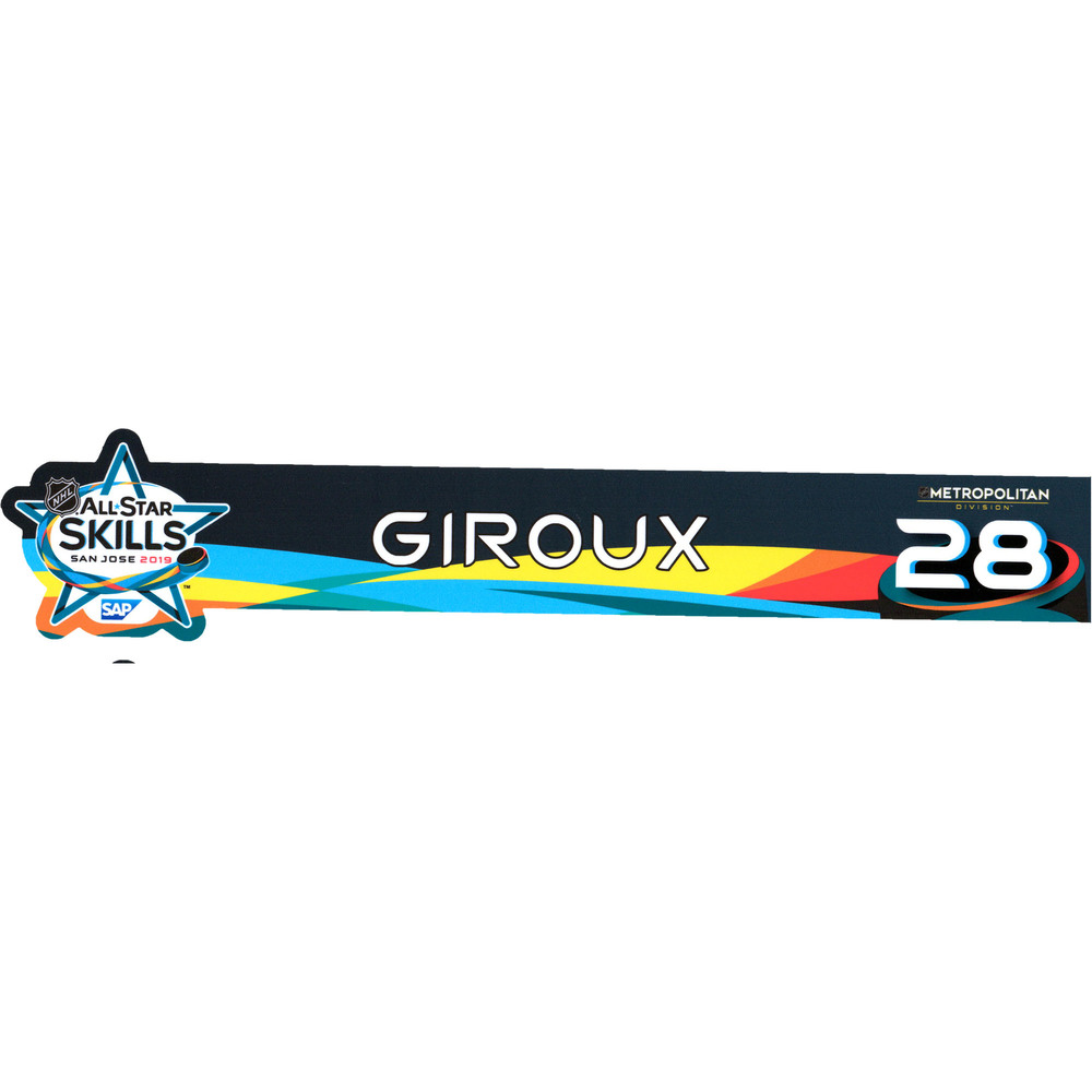 Claude Giroux Philadelphia Flyers Event-Used #28 Locker Nameplate from All-Star Skills Competition