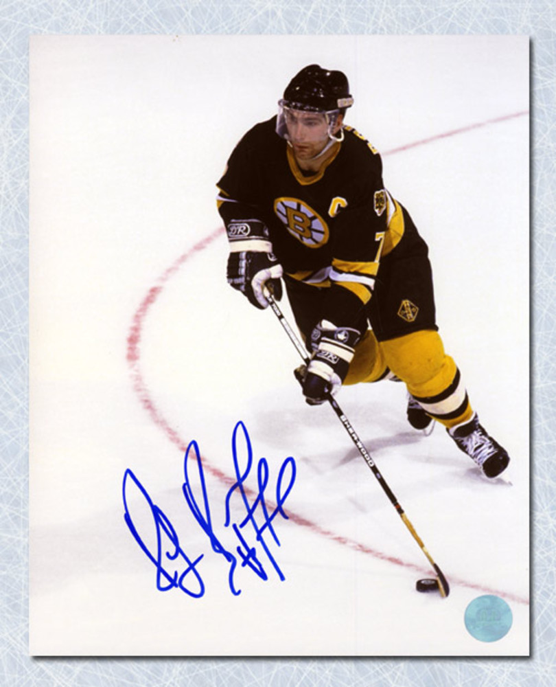 Ray Bourque Boston Bruins Autographed Overhead Hockey 8x10 Photo