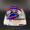 HOF - Bills Marv Levy Signed Chrome Mini Helmet